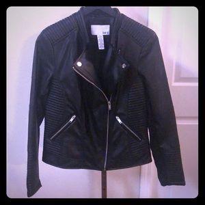 Moto Jacket! Black Vegan Leather by Bar lll